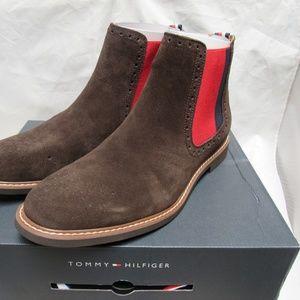 Tommy Hilfiger GAINER Dark Brown Suede Ankle Shoe